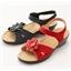 "Sandales ""Florine"" rouge ou marine"