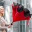 Parapluie inversé Rouge/noir