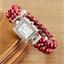 Montre perles : blanc, bleu ou rouge