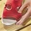 Sandales extensibles Marine ou Rouge