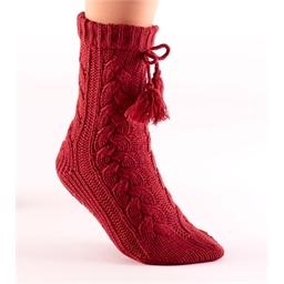 Chaussettes tricot antiglisse Bordeaux - taille 36/37
