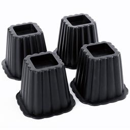 4 surélévateurs de lit Noir