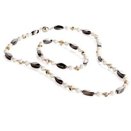 """Parure collier + bracelet magnétique """"Pearl"""""""