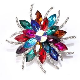 Broche «fleur» magnétique