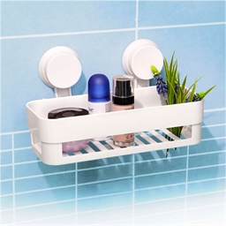 Etagère salle de bains à ventouse Droite