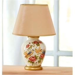 Lampe de chevet décor roses