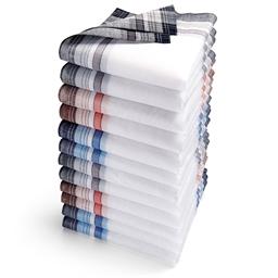 Lot de 12 mouchoirs