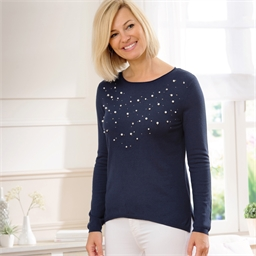 """Pull """"Mary"""" perles et strass"""