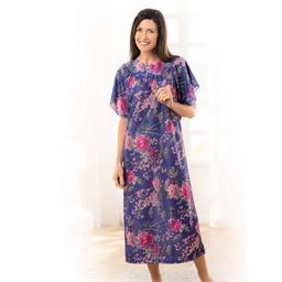 Robe d'hôtesse pivoine violet