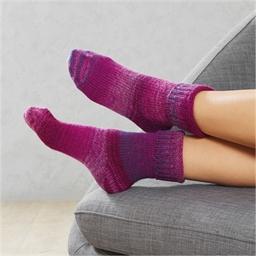 Chaussettes d'intérieur laine Violet ou Gris