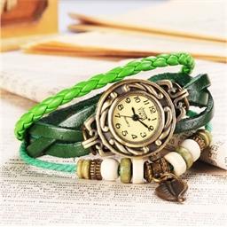 Montre bracelet Fantasia marron ou vert