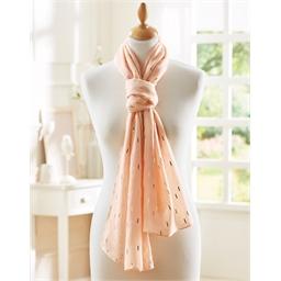 Etole foulard rose poudré