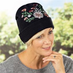Bonnet fleuri