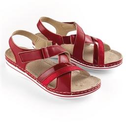 """Sandales """"Célia"""" Rouge"""
