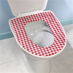 Galette WC vichy rouge