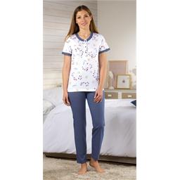 Pyjama fleurs et pois - taille M