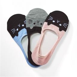 Lot de 3 paires chaussinettes chats