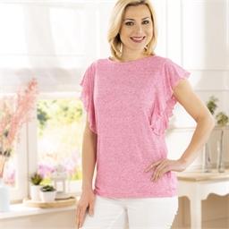 Tee-shirt volanté Rose - taille M