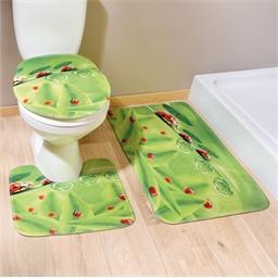 3 tapis salle de bain coccinelles