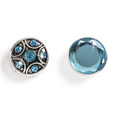 Collier + 3 boutons Bleu