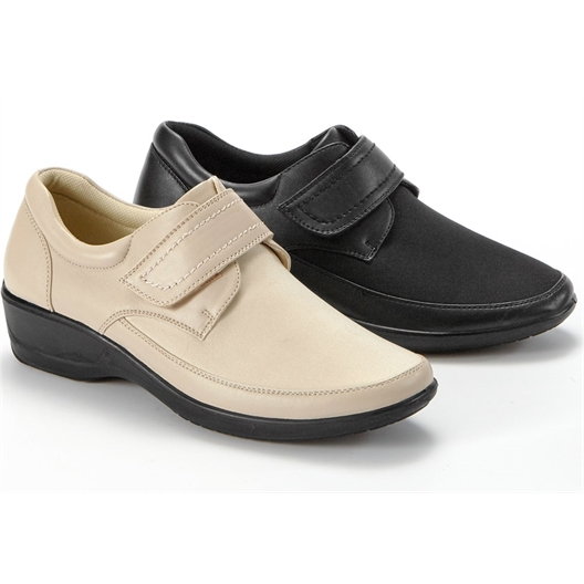 "Chaussures extensibles ""Lydie"" : Noir ou Beige"