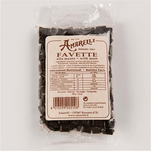 Sachet réglisse pure à la menthe ou Réglisse Amarelli (lot de 2 boîtes)