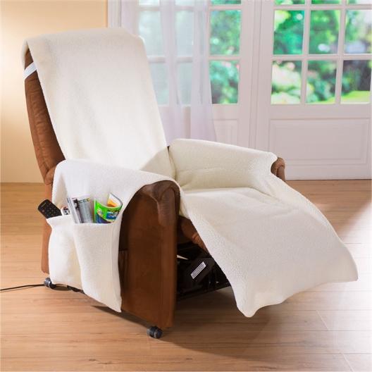 Couvre-fauteuil malin Ecru