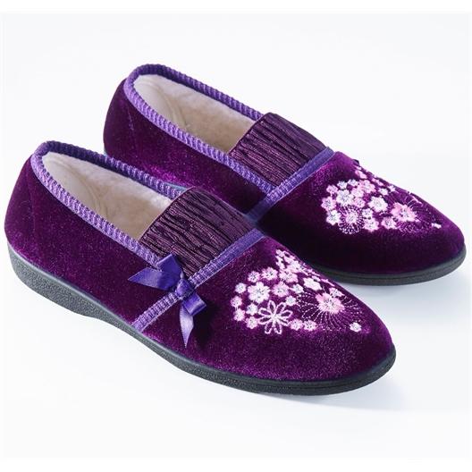 """Chaussons """"Christine"""" : Violet ou Bordeaux"""