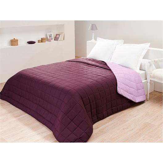 Couvre-lit bicolore 230X260 : 3 coloris