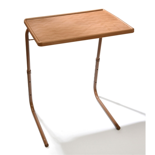 Table TV réglable blanc ou bois