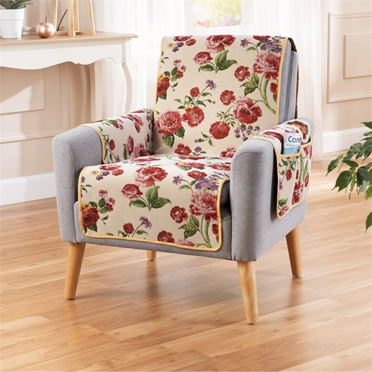"""Couvre-fauteuil malin """"roses"""""""