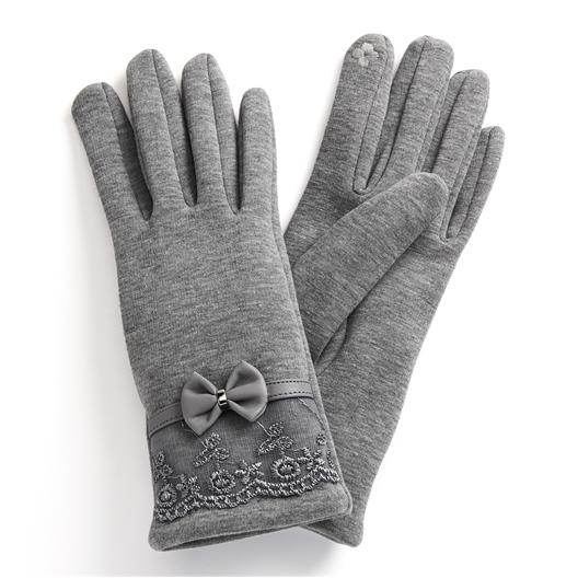 Gants élégance gris