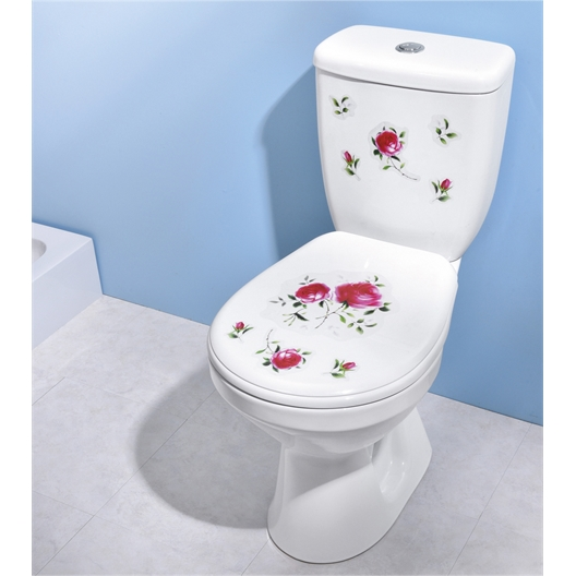 Sticker roses WC