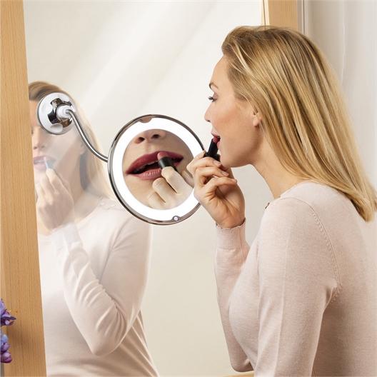 Miroir grossissant lumineux flexible