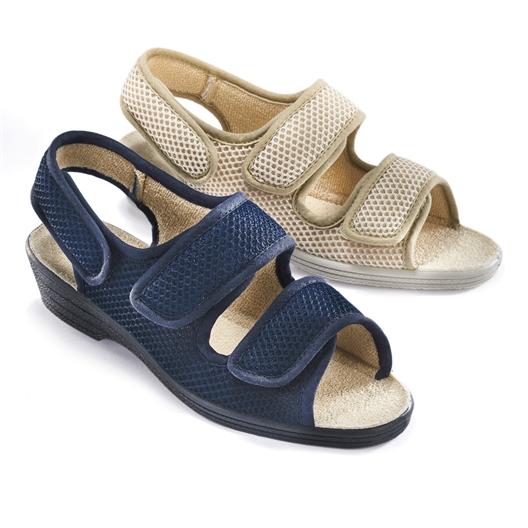 Sandales confort Beige ou Marine