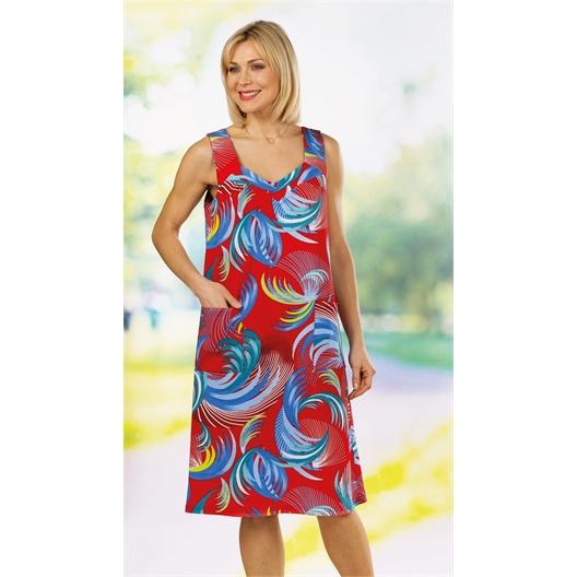 Robe tropicale : bleue ou rouge