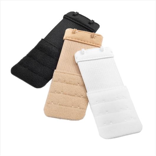 Lot de 2 extensions de soutien-gorge à 2 ou 3 crochets : blanc, beige ou noir