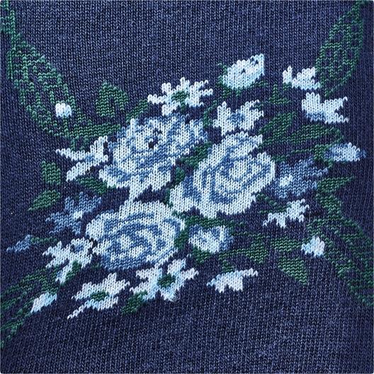 Chaussettes hautes fleuries Gris ou Marine