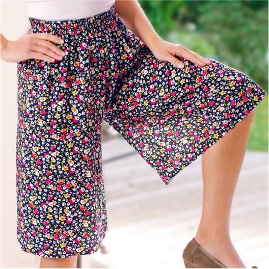 Jupe-culotte fleurie imprimé