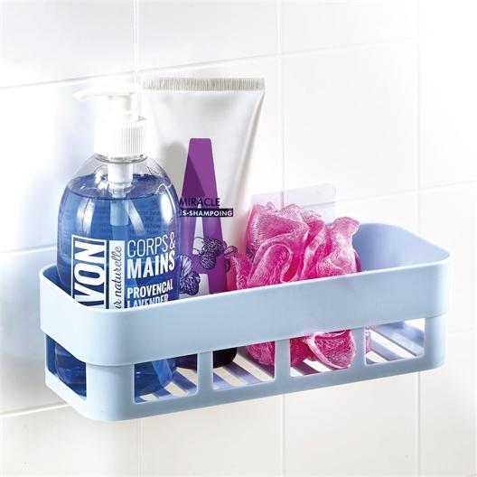 Etagère salle de bain bleue