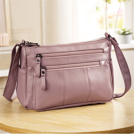 Sac multipoches rose