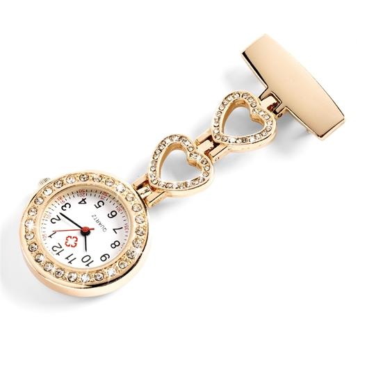 Broche montre argenté ou rose doré