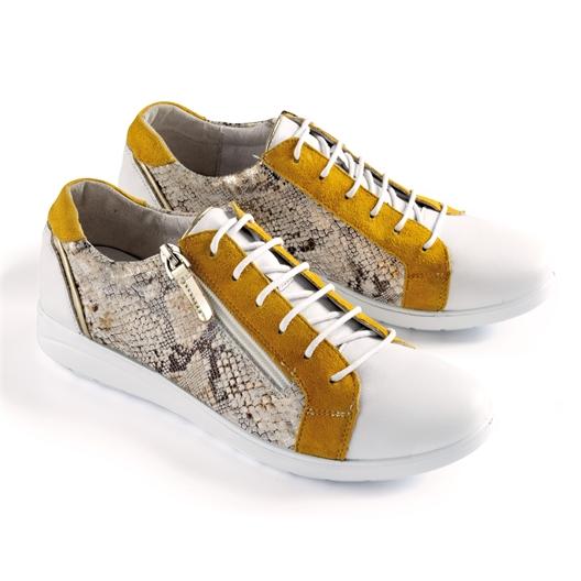 "Baskets ""Farfadet"" Blanc/jaune - taille 37"
