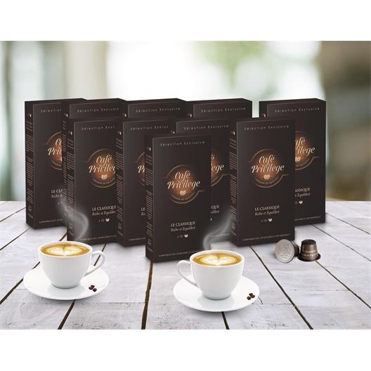 10 étuis de 10 capsules classique (100 capsules de café)